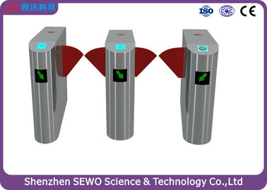 China Retractable high speed flap barrier turnstile entry systems with Patent designed supplier
