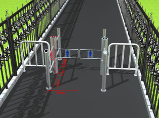 China Intelligent access management pillar swing gate turnstile for public areas supplier