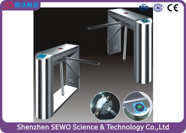 China Heavy use waist height pedestrian turnstile gate for Industrial or bus station supplier
