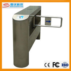 China 304 Stainless steel secure electronic counter swing barrier gate turnstile supplier