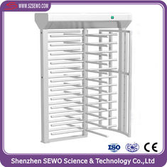 China Minimal Power Consumption Adjustable AccessTurnstile RFID Card Reader Full Height Turnstile supplier