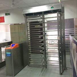 China Reliable Personal Safety  Brushed Industrial Turnstile RFID Card Reader Full Height Turnstile supplier