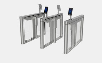 Fast Speed Stainless Steel Facial Recognition Turnstile 6 Groups Sensor For Banks