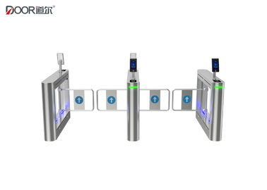 Swing Arm Controlled Access Gates , Half Height Turnstile With Facial Recognition