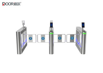 China Swing Arm Controlled Access Gates , Half Height Turnstile With Facial Recognition factory