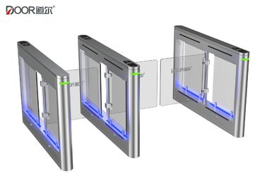 Single Body Supermarket Swing Gate / Intelligent Automated Turnstiles
