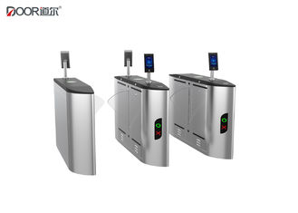 Brushed Stainless Steel Pedestrian Barrier Gate Turnstile Entry Systems