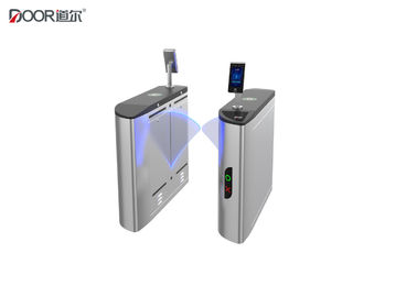 Flap Type Face Recognition Fingerprint Turnstile Barrier Gate For Office And Hotels