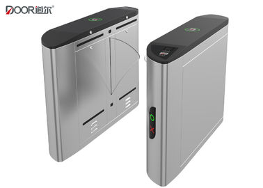 Fingerprint Access Control Flap Barrier Gate With 1200mm Passing Width