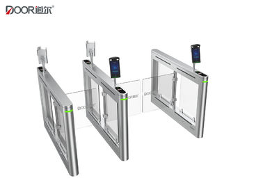 6 Sensors Pedestrian Swing Gate , Access Control Turnstile Gate Ce Certified