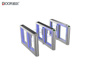 Silver Speed Gate Turnstile Fastlane Turnstile With Card Reader And Qr Code