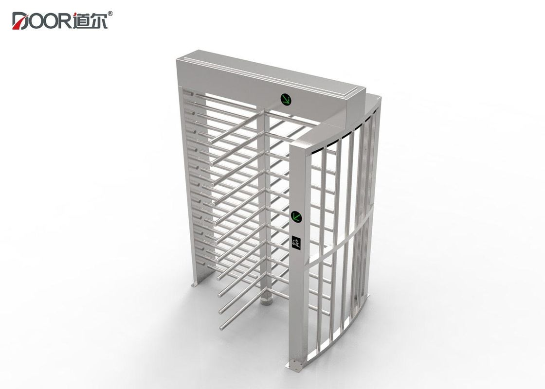 Security Entrance Full Height Turnstile Gates , Stainless Steel Turnstiles Ip65 Rating