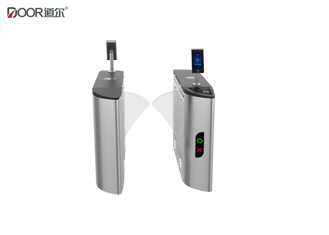 Automatic Flap Barrier Facial Recognition Turnstile Rfid Card Access Control Systems supplier