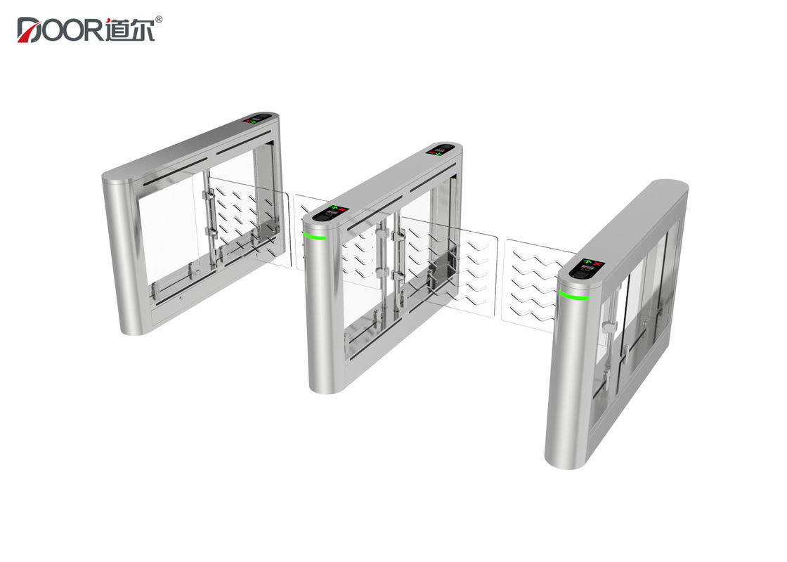 High Security Face Recognition Biometric Turnstile Swing Gate With Rfid Card Reader