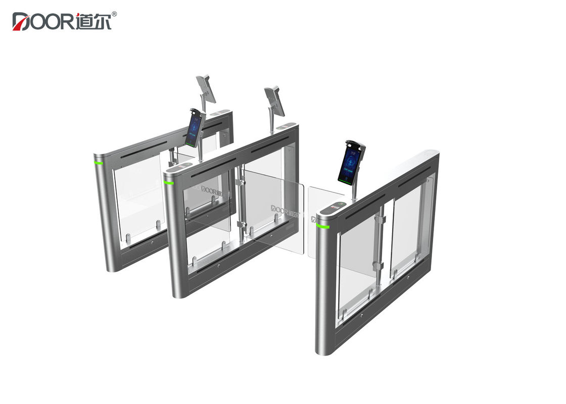 Steel Laser Cutting Pedestrian Turnstile Gate With Facial Recognition Dry Contact supplier