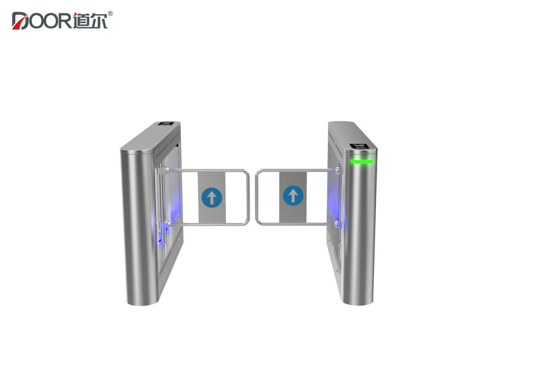 Access Control Swing Gate Turnstile With Stainless Steel Arm 30-35 Personal / Min