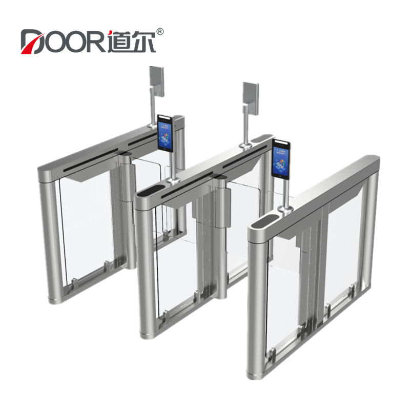 2 Channels Pedestrian Swing Gate Turnstile With Face Recognition