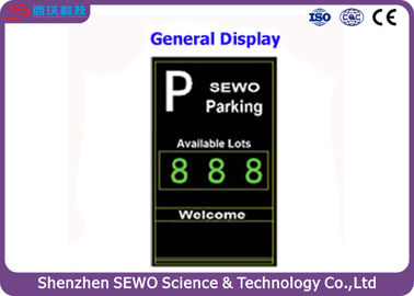 China Ultrasonic Vehicle Detector Advanced Parking Guidance System with LED Display at Entrance distributor