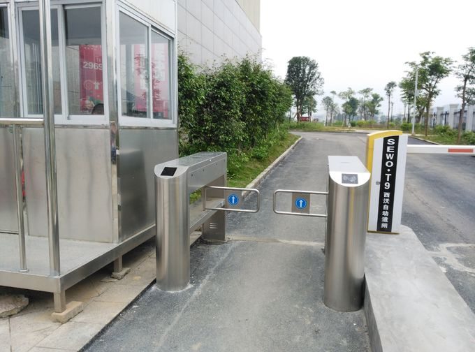 High quality durable stainless steel high speed swing barrier turnstile for supermarket